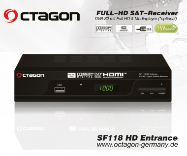 Octagon SF118 FullHD Media Sat-Receiver mit USB