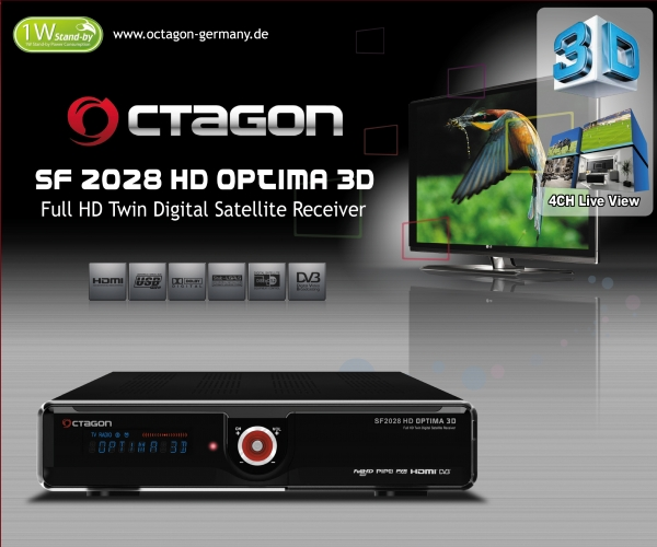 OCTAGON SF2028 HD Twin 3D Optima