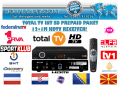 TotalTv International 12+1M +gratis HD Receiver inkl Sport Klub HD Paket gratis und NETTV Plus Gratis